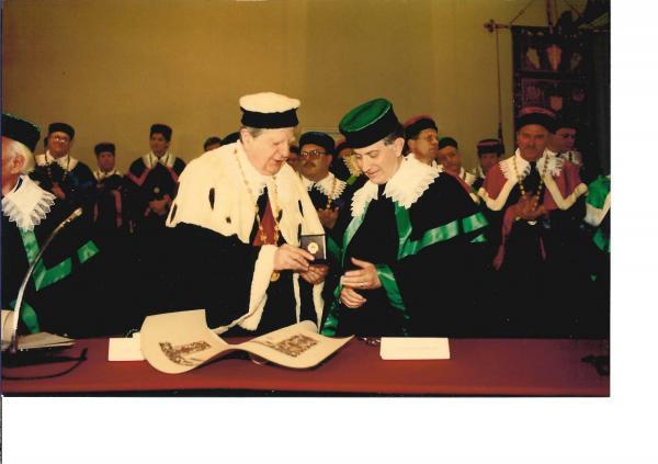 Honorary Doctorate, Ferrara, Italy - 1992