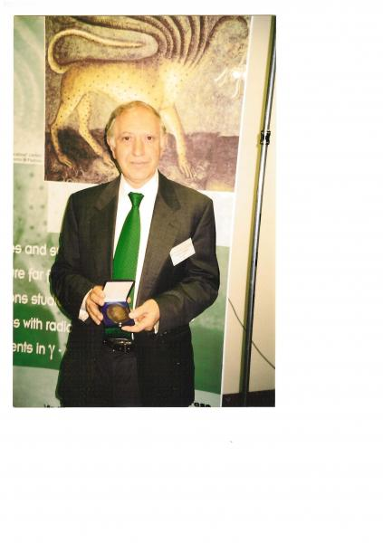 Lise Meitner Medal, Budapest, Hungary - 2002 (photo from ceremony in Legnaro, Italy)